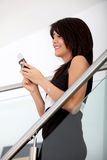 Business woman texting Royalty Free Stock Image
