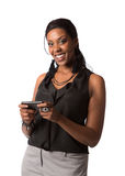 Business Woman Texting on Cell Phone Stock Image
