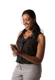 Business Woman Texting on Cell Phone Stock Photos