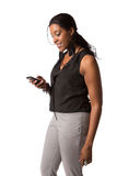 Business Woman Texting on Cell Phone Stock Images