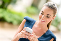 Business woman texting Royalty Free Stock Photography