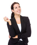 Business woman think of idea Royalty Free Stock Photography