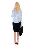 Business woman think solution Royalty Free Stock Photography