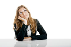 Business Woman Thinking Stock Photo