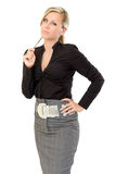 Business woman thinking Stock Photos