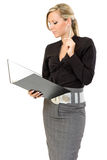 Business woman thinking Royalty Free Stock Images