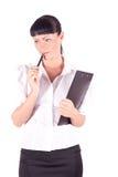 Business woman. thinking Stock Photo