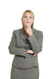 Business woman thinking stock photography
