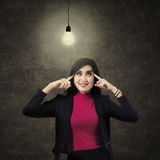 A Business Woman Thinking Royalty Free Stock Photography
