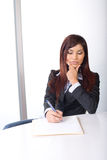 Business woman thinking Stock Images