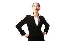 Business woman thinking or dreaming Stock Photography