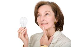 Business woman thinking of ideas Royalty Free Stock Image