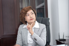 Business woman is thinking Stock Images