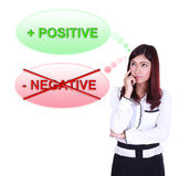 Business woman thinking about positive thinking Royalty Free Stock Photography