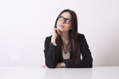 Business woman thinking Stock Image