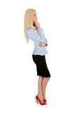 Business woman thinking solution Stock Images