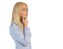 Business woman thinking solution Stock Photo