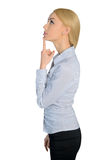 Business woman thinking solution Royalty Free Stock Images