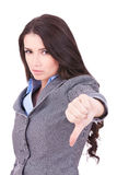 Business woman with thumb down Stock Photos