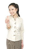 Business woman with thumb up Stock Photos