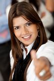 Business woman with thumb up Royalty Free Stock Photo