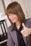 Business woman with thumb up Royalty Free Stock Image