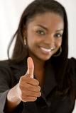Business woman with thumb up Royalty Free Stock Photos