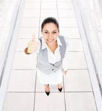 Business woman thumb up gesture Royalty Free Stock Photo