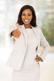 Business woman thumb up Royalty Free Stock Photography