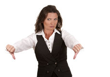 Business woman thumbs down Royalty Free Stock Photos