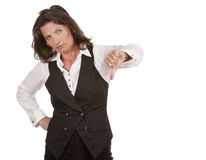 Business woman thumbs down Stock Image