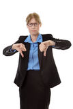 Business woman thumbs down. Royalty Free Stock Photography