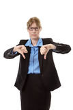 Business woman thumbs down. Royalty Free Stock Photo