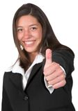 Business woman - thumbs up Stock Photography