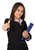 Business woman thumbs up Stock Photos