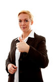 Business woman with thumbs up Stock Photos
