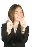 Business woman - thumbs up! Royalty Free Stock Photos