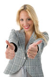 Business woman with thumbs up Stock Photo