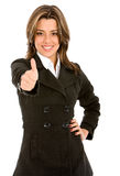 Business woman thumbs up Stock Images