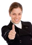 Business woman - thumbs up Stock Images