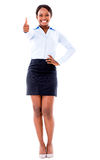 Business woman with thumbs up Royalty Free Stock Photography