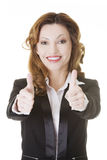 Business woman with thumbs up, ok gesture Royalty Free Stock Image