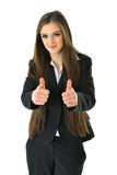 Business Woman with Thumbs Up. Successful Business woman holding thumbs up Royalty Free Stock Photos