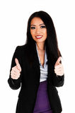 Business woman with thump up. Stock Photos