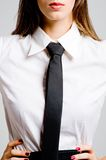 Business Woman In Tie Stock Images