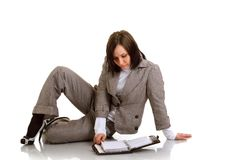 Business woman with timer Stock Photo
