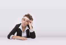 Business woman in times of the economic crisis. Royalty Free Stock Photos