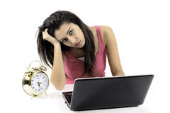 Business woman tired Stock Photography