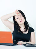 Business woman tired Stock Images