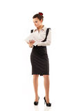 Business woman tired depressed Royalty Free Stock Image